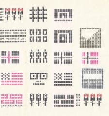 Typist designs for graphic treatments built of letters, Tomas Vrba
