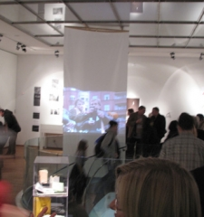 Opening reception at The Czech Center, New York City, Bohemian National Hall, November 9, 2011
