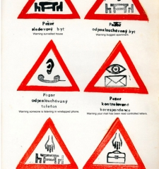 Warning – hand printed poster from periodical Vokno, issue #3