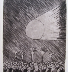 Etching from samizdat Hour of Distress